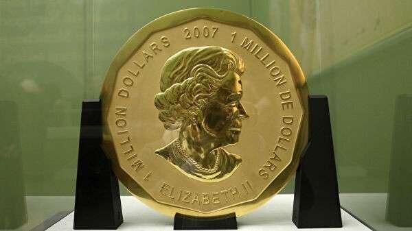 Стокилограммовая золотая монета номинальной стоимостью в $1 млн и весом в 100 кг в Музее Боде