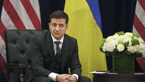 Президент Украины Владимир Зеленский во время встречи с президентом США Дональдом Трампом в Нью-Йорке, США. 25 сентября 2019