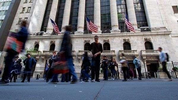Нью-Йоркская фондовая биржа, расположенная на Уолл-стрит