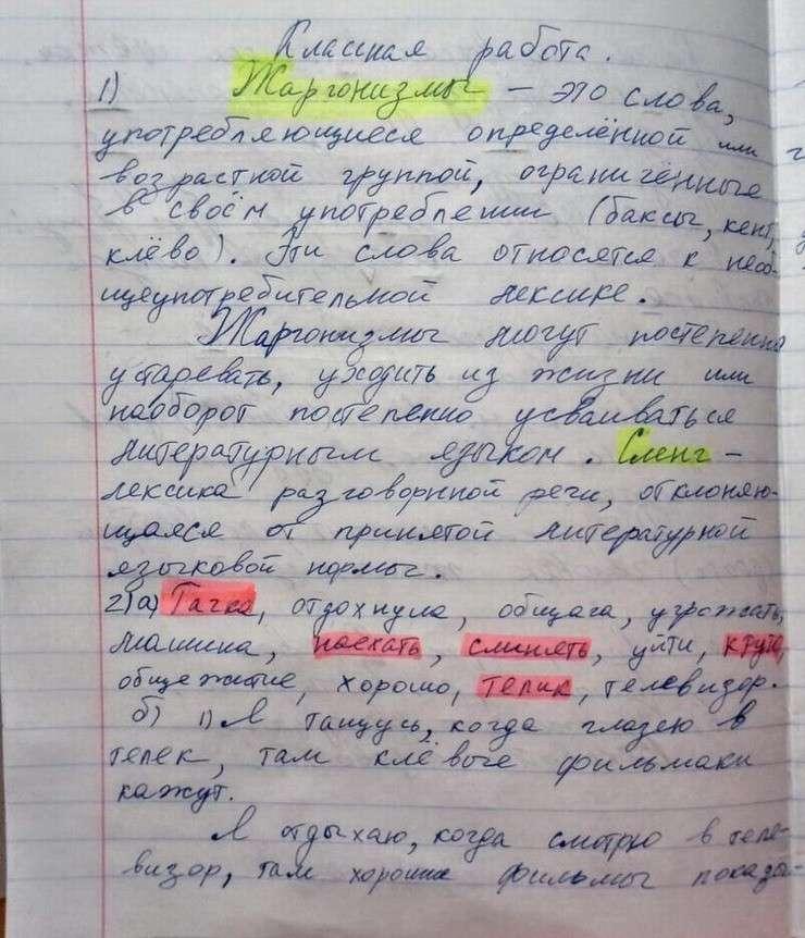 Урок русского языка в школе Петербурга: «Мы вчера оттянулись на дискаче, там было ржачно и клево»