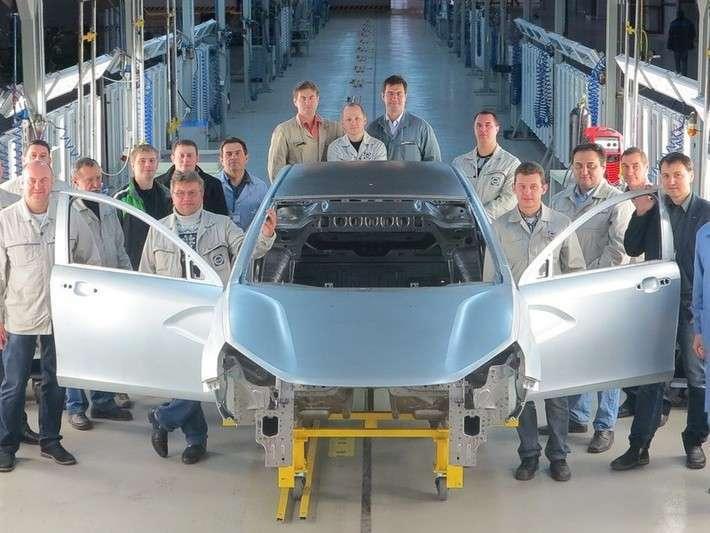 ВИжевске выпущен первый кузов Lada Vesta