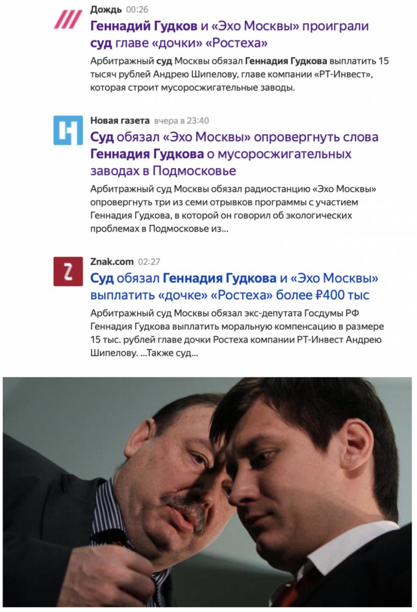 Оппозиционеров Геннадия и Дмитрия Гудковых цинично ударили прямо по карману