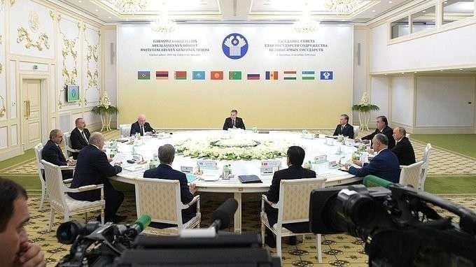 Выступление на заседании Совета глав государств СНГ в узком составе