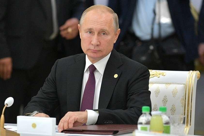 Президент России Владимир Путин во время заседания Совета глав государств-участников СНГ. Фото: Алексей Дружинин/ТАСС
