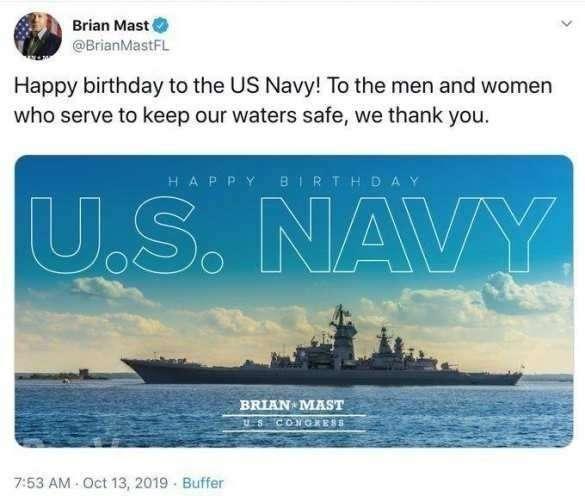 Конгрессмен поздравил ВМФ США картинкой с крейсером РФ, созданным для уничтожения авианосцев | Русская весна