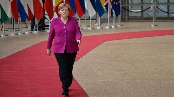 Федеральный канцлер Германии Ангела Меркель перед началом неформального ужина глав государств и правительств ЕС в Брюсселе. 28 мая 2019