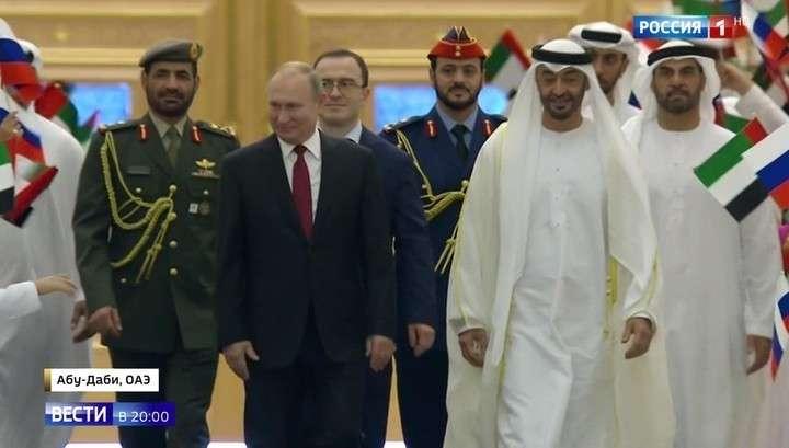 Путин и принц ОАЭ скрепили договоры подарками