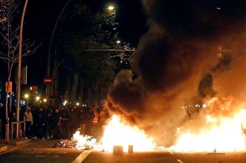 Испания. Каталонцы вновь устроили массовые беспорядки