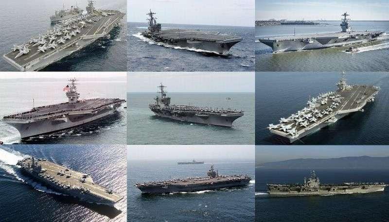 Из 11 авианосцев США в строю только 2. К чему бы это?