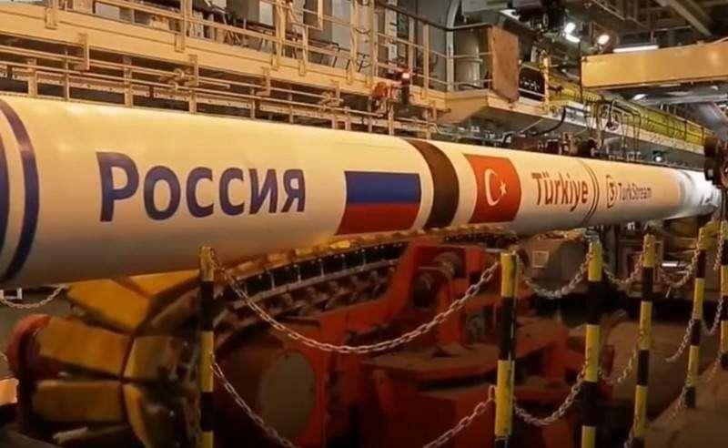 Первую нитку «Турецкого потока» начали заполнять газом