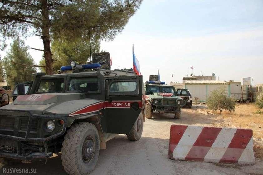 Армия России берёт под контроль зону оккупации США в Сирии