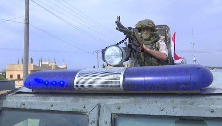 Военная полиция России начала патрулировать сирийско-турецкую границу