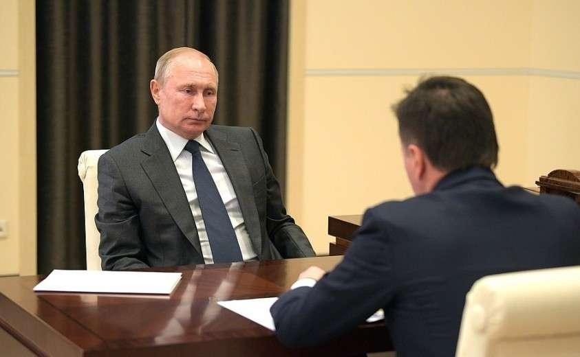 На встрече с губернатором Московской области Андреем Воробьёвым.