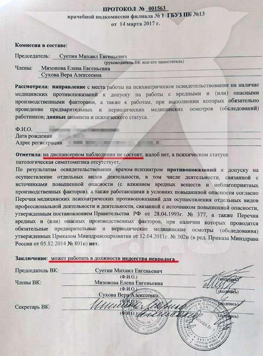 В Москве медсестру незаконно упекли в психбольницу и пичкали таблетками, чтобы уволить с работы
