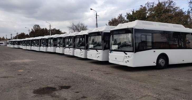 «Крымтроллейбус» получил 44 новых автобуса марки «Лиаз» и «Кавз»