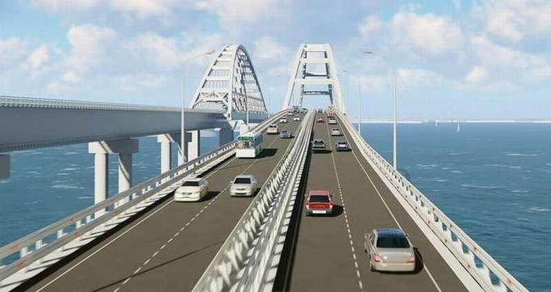 Вот такой он многоуровневый Крымский мост новой Российской Империи