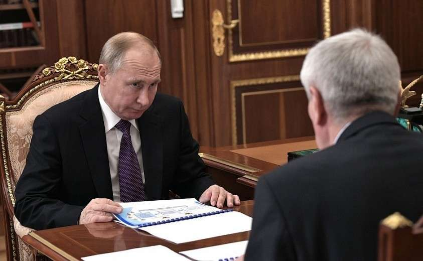Встреча с директором Федеральной службы по финансовому мониторингу Юрием Чиханчиным.
