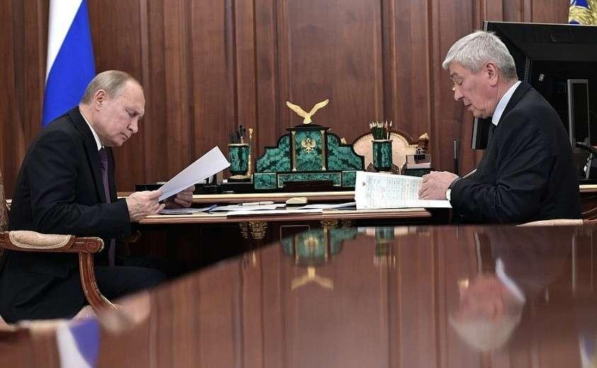 С директором Федеральной службы по финансовому мониторингу Юрием Чиханчиным.