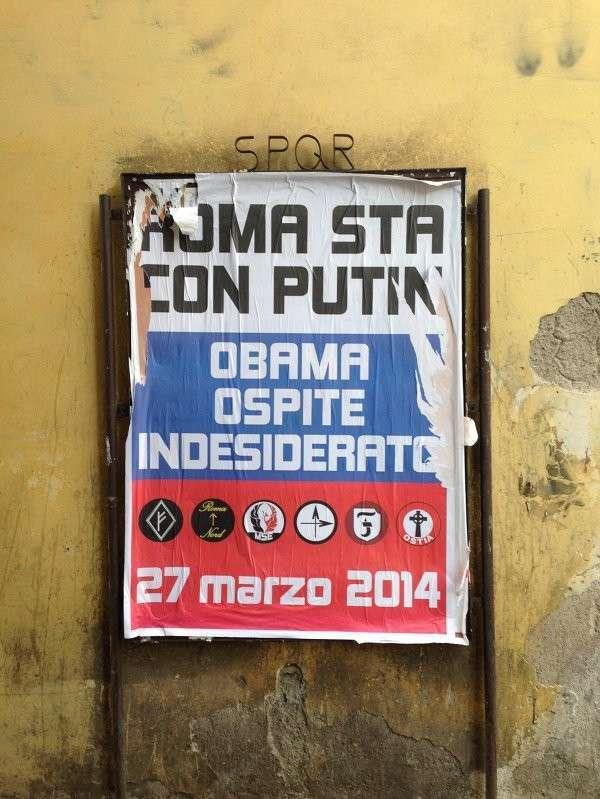 Рим встречает президента США плакатами «Обама - нежеланный гость»