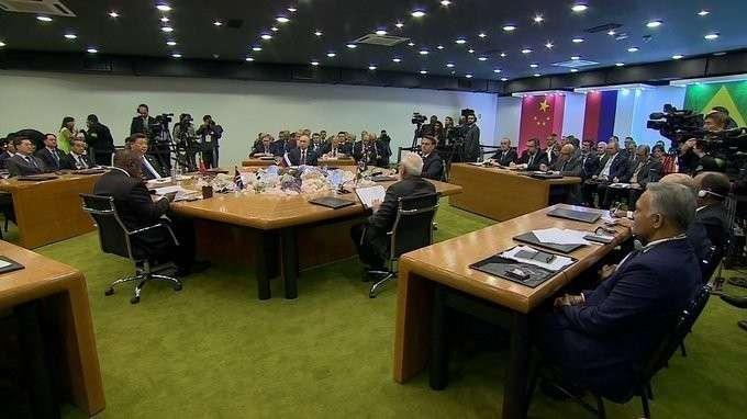Выступление на встрече лидеров БРИКС