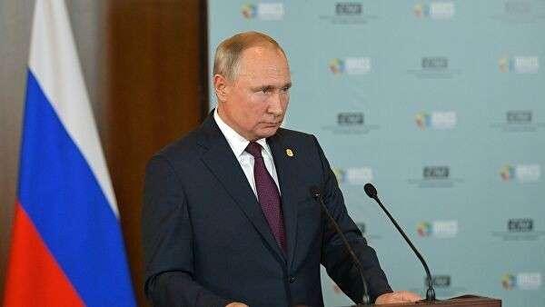 Президент РФ В. Путин на саммите БРИКС в Бразилии