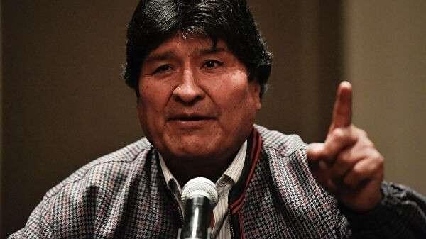 Бывший президент Боливии Эво Моралес на пресс-конференции в Мехико
