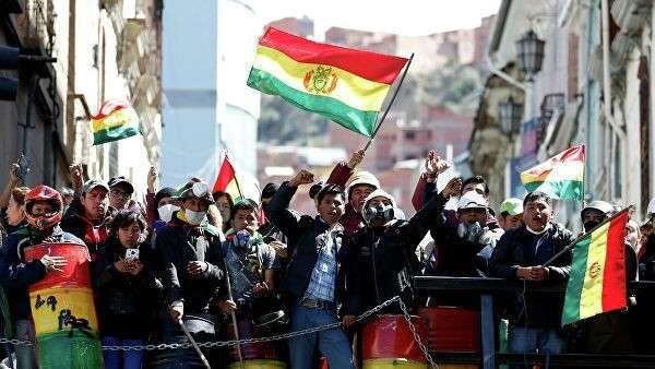 Акция протеста в Боливии