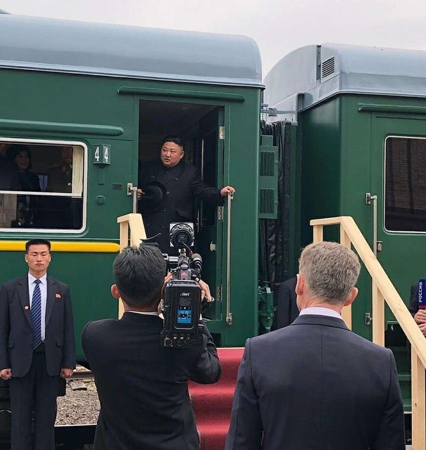 В апреле этого года корейский вождь Ким Чен Ын прибыл во Владивосток на своем бронепоезде. Фото: GLOBAL LOOK PRESS