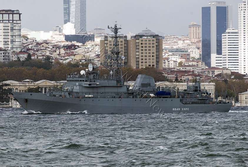 Новый разведывательный корабль ВМФ РФ «Иван Хурс» идёт в Сирию