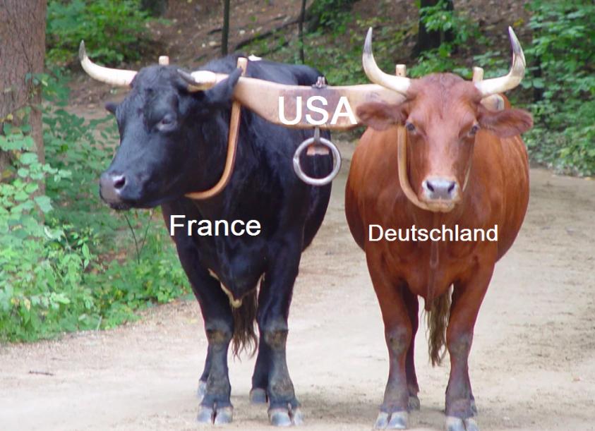 Франция пытается скинуть американское колониальное ярмо