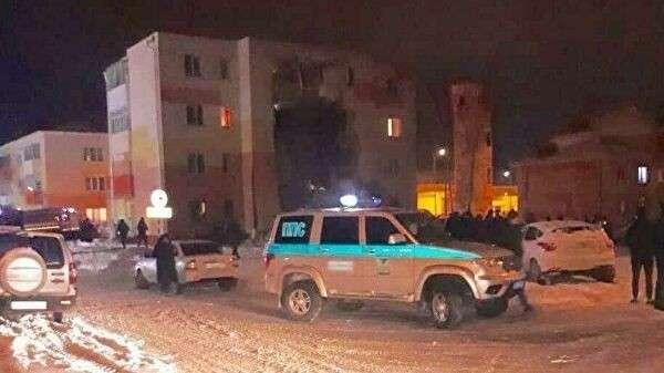 Обрушение стены жилого дома в результате хлопка газа в поселке Яковлево, Белгородской области. 3 декабря 2019