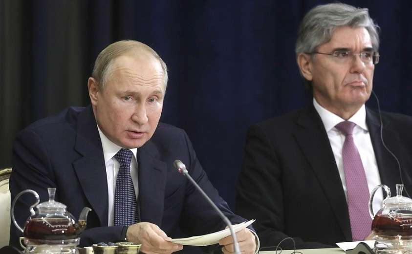 Владимир Путин рассказал немецкому бизнесу о российской стабильности и украинском транзите