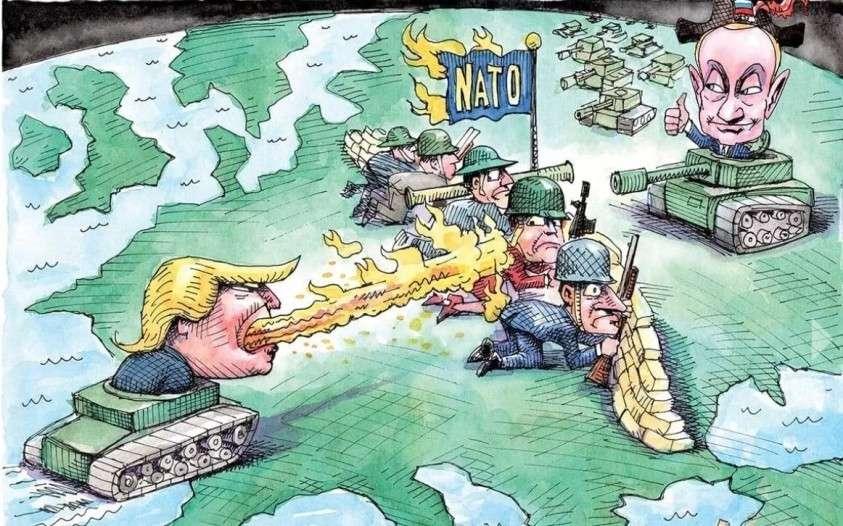 Юмор. Саммит НАТО. Однажды в пригороде Лондона