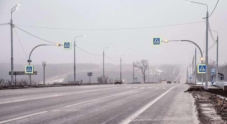 В Курске открыли отремонтированный участок автотрассы «Крым»