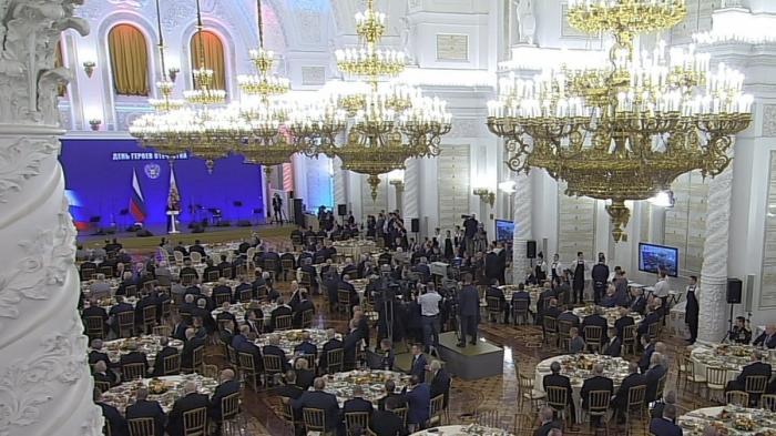 Владимир Путин выступил на торжественном приёме в Кремле в честь Дня Героев Отечества