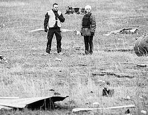 На месте крушения Boeing на Украине обнаружены новые останки