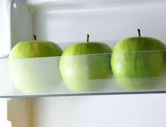 Яблоки дольше остаются свежими в холодильнике. /Фото: photo-2-baomoi.zadn.vn