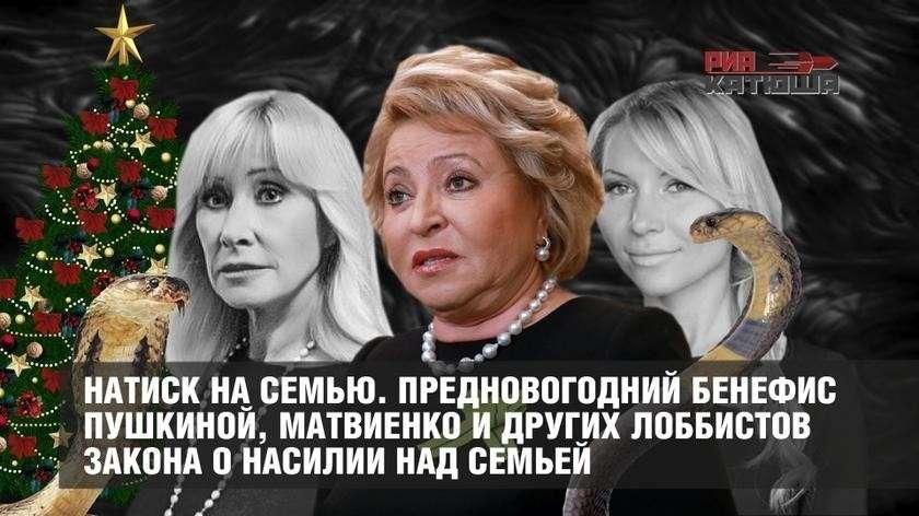 Предновогодний бенефис Пушкиной, Матвиенко и других лоббистов закона о домашнем насилии