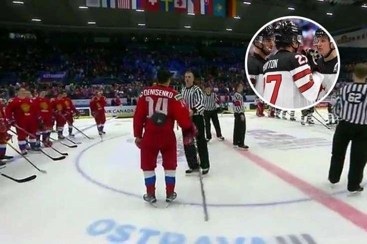 Капитан канадцев не снял шлем во время гимна России. От расправы спасли судьи