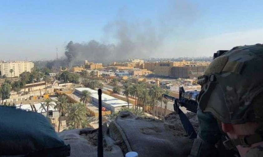 Американские снайперы охраняют Зелёную зону в Багдаде