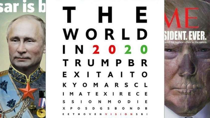 Обложка The Economist на 2020 год. Войне и рецессии быть
