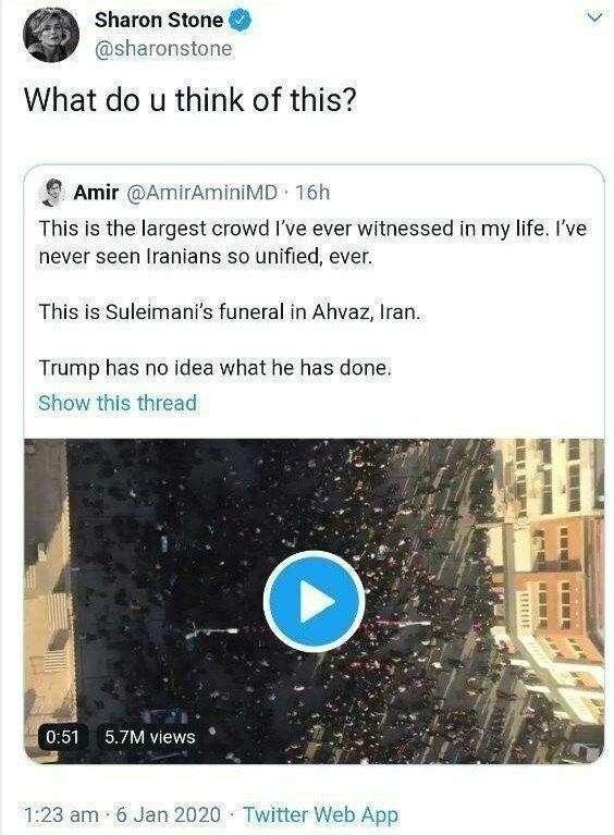 «Бесконечное море людей на улицах» – на Западе в шоке от похорон генерала Сулеймани (ФОТО, ВИДЕО)