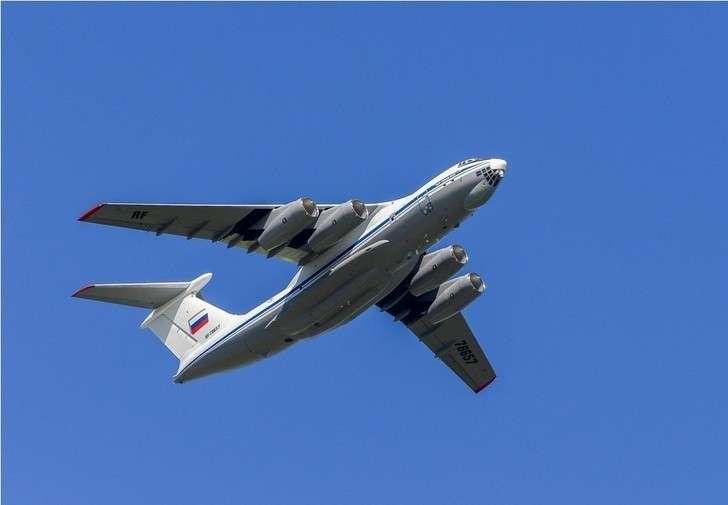 Первый построенный в 2019 году на АО «Авиастар-СП» военно-транспортный самолет Ил-76МД-90А (заводской номер 0202, регистрационный номер RF-78657) в первом полете. Ульяновск, 13.06.2019 (с) АО «Авиастар-СП»