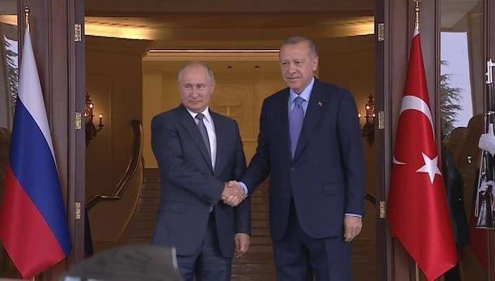 Стамбул. Путин и Эрдоган начали закрытые переговоры