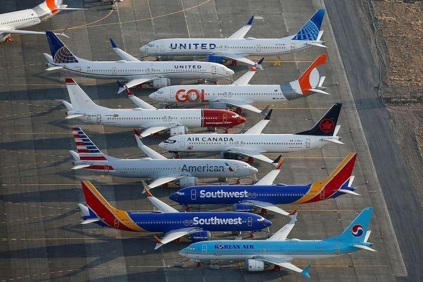 Самолеты Boeing 737 MAX, чья эксплуатация пока прекращена из-за двух катастроф.