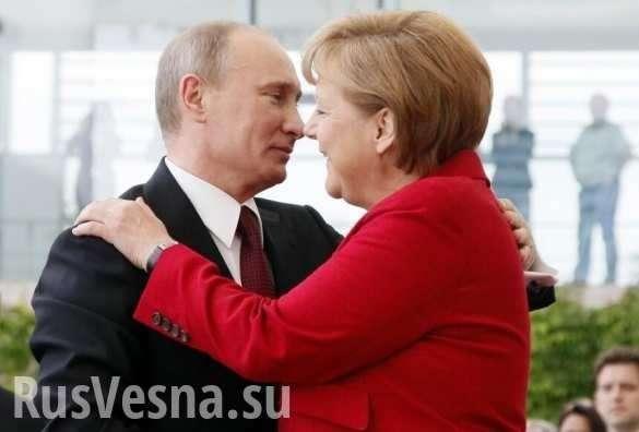 Выйдя от Путина, Меркель заговорила по-русски (ВИДЕО) | Русская весна