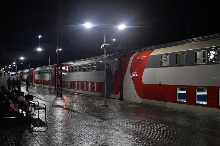 Новый двухэтажный поезд «Карелия» связал Петрозаводск и Москву