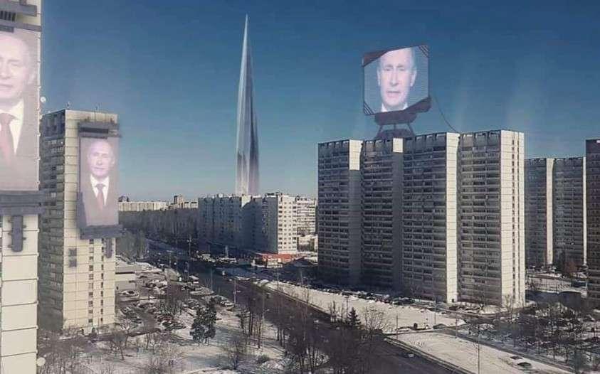 Послание Путина впервые покажут на здании Телеграфа и гостинице «Космос»