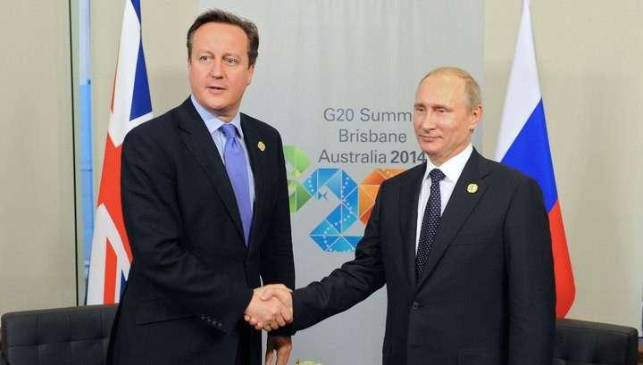 Владимир Путин провёл встречу с Кэмероном за закрытыми для прессы дверями