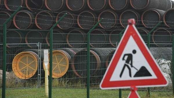 На участке строительства трубопровода